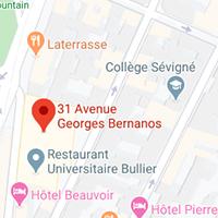 Carte de localisation des installations sportives de l'université
