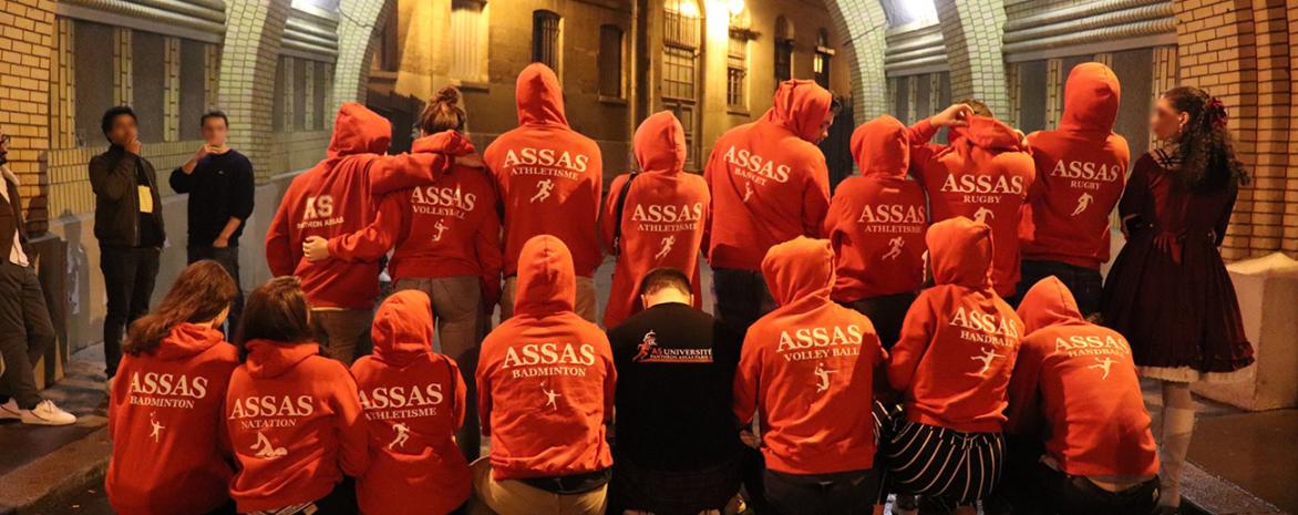 Photo des étudiants de l'assocation des sports de l'université Paris 2